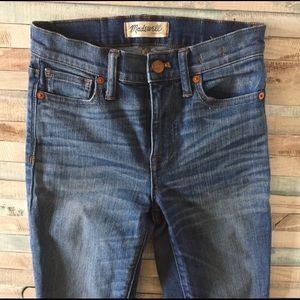 Madewell high rise skinny jeans 24